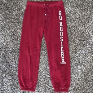 Women's VS PINK IU Hoosiers size XS sweatpants